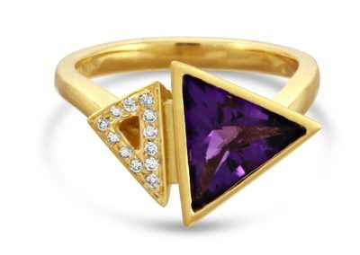 18ct Amethyst & Diamond